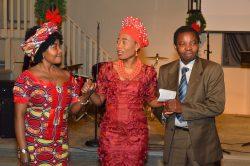Cadeau with Pastor Gidion and Maman Bizirama Rose