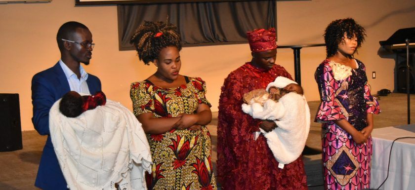Presentation of babies Arsene and Esther