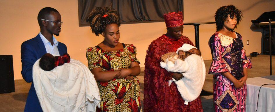 Presentation of babies Arsene and Esther